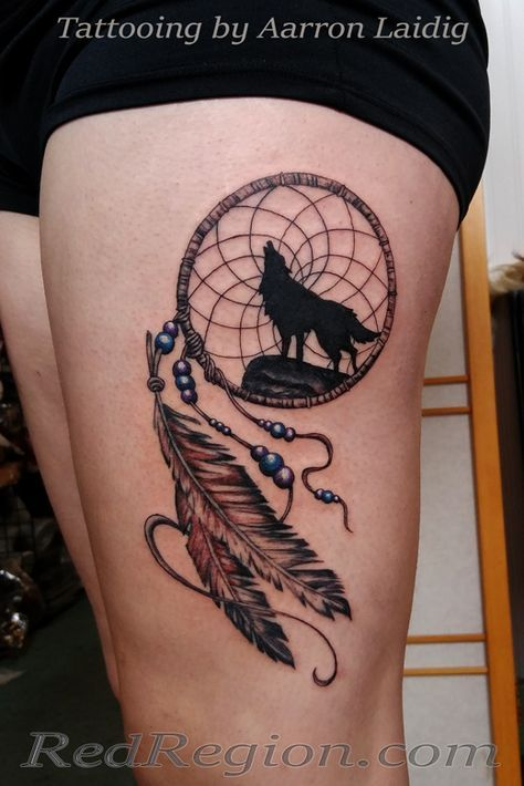 Elephant Dream Catcher Tattoo (3)