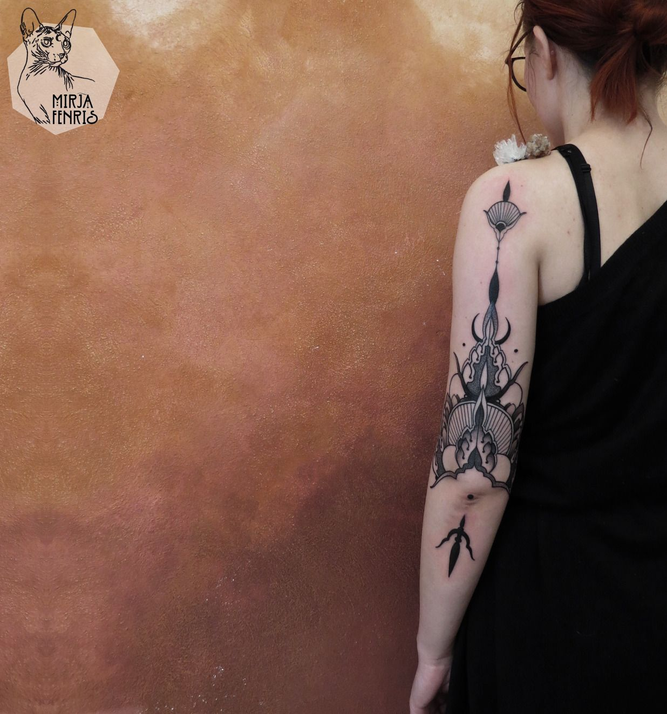 Elephant Dream Catcher Tattoo (8)