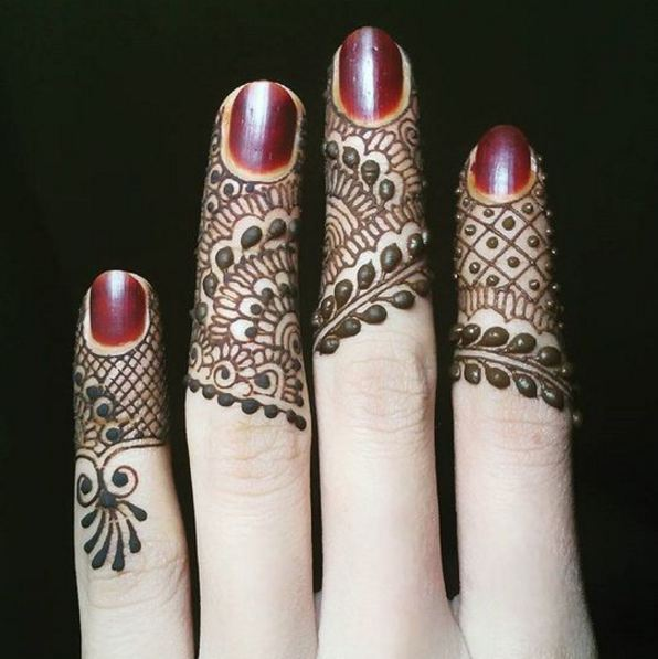 Finger Henna Designs