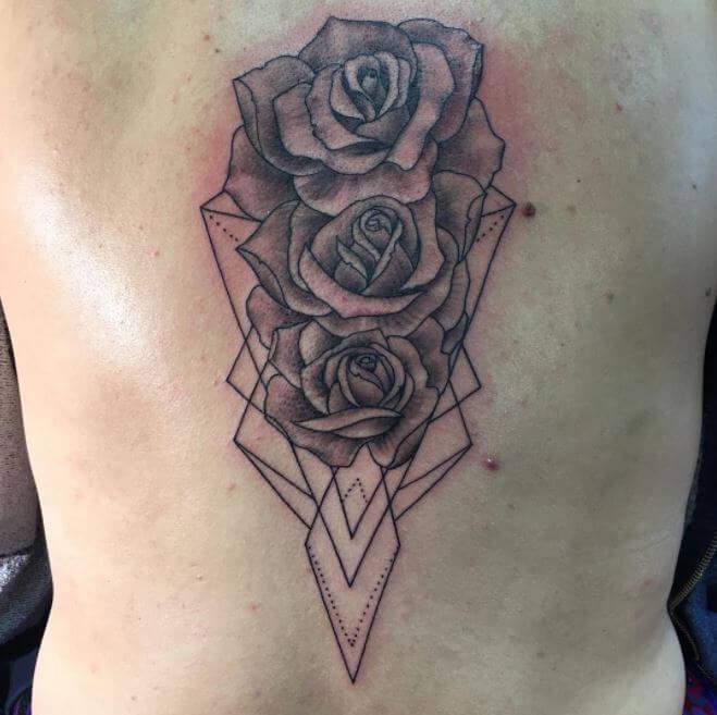Flower Back Tattoos For Girls