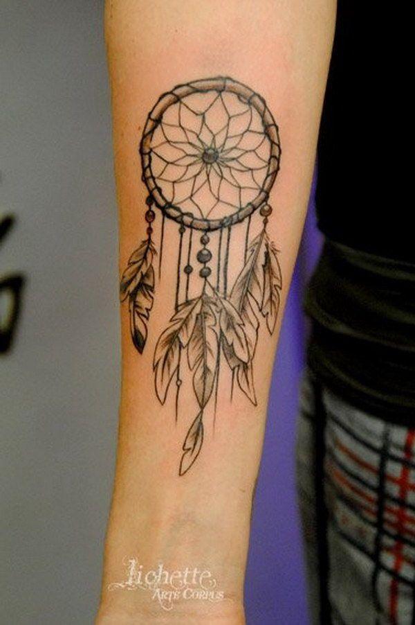 Girly Dreamcatcher Tattoo (1)