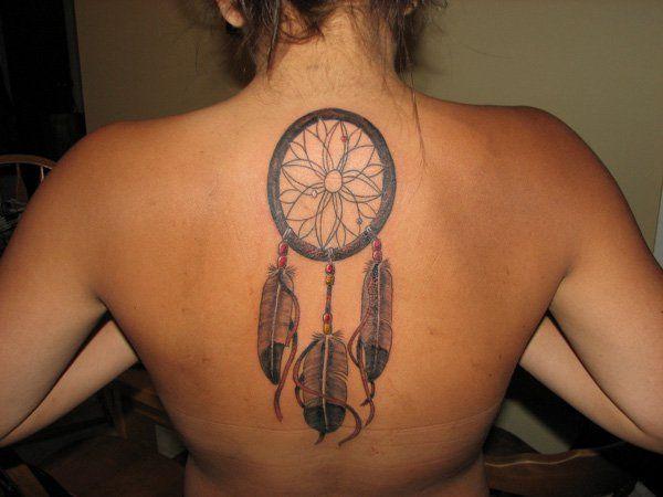 Girly Dreamcatcher Tattoo (5)