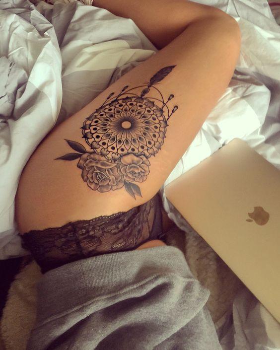 Girly Dreamcatcher Tattoo (7)