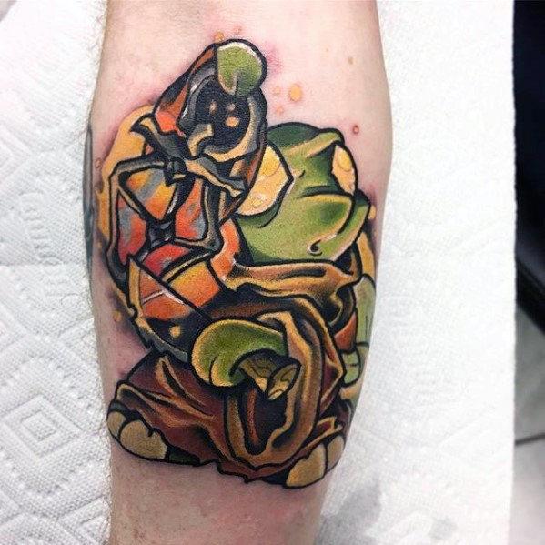 Guys Final Fantasy Tonberry Inner Forearm Tattoo