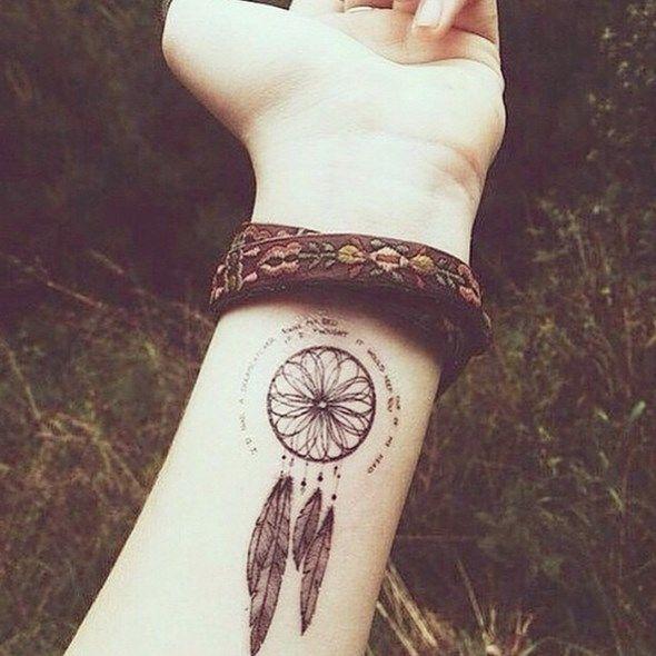 Heart Dreamcatcher Tattoo (11)