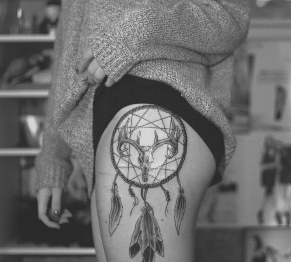 Heart Dreamcatcher Tattoo (3)