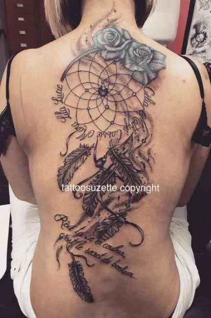 Heart Dreamcatcher Tattoo (7)