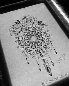 Heart Dreamcatcher Tattoo (9)