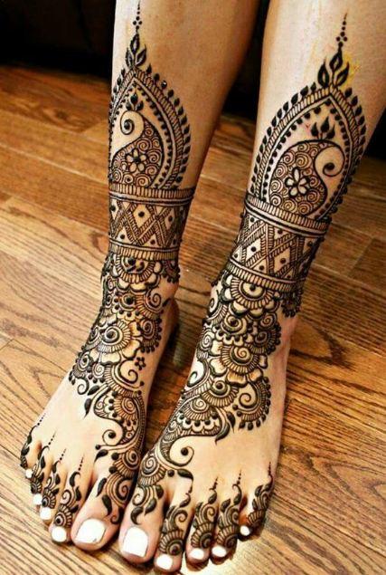 Henna Foot Designs