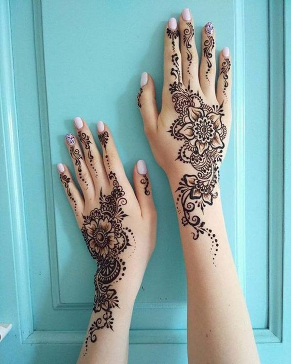 Hindu Tattoos On Hands (7)
