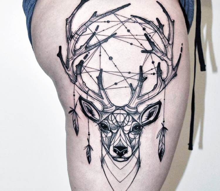 Horseshoe Dreamcatcher Tattoo (2)