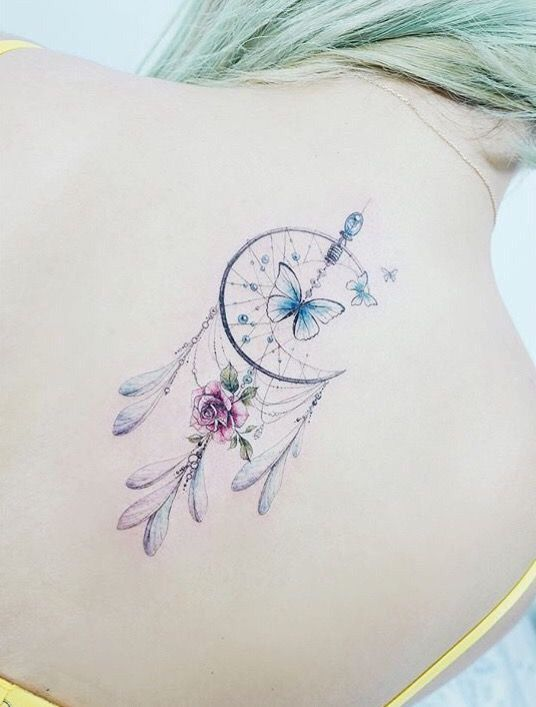 Horseshoe Dreamcatcher Tattoo (9)
