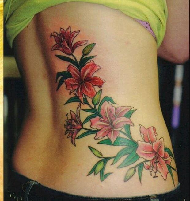 Lower Back Tattoos For Girls Flowers