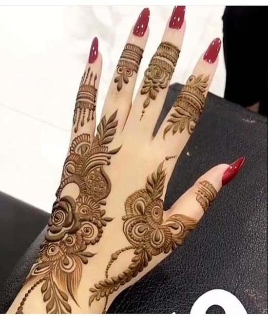Mehndi Design Easy And Beautiful (6)