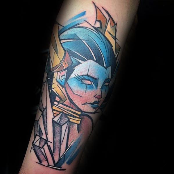 Mens Video Game Modern Final Fantasy Forearm Tattoo