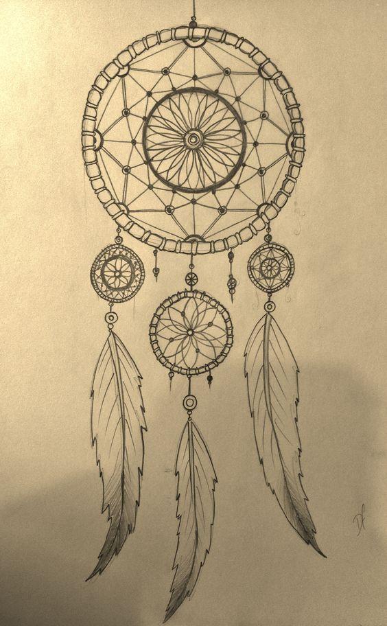 Native American Dreamcatcher Tattoo (5)