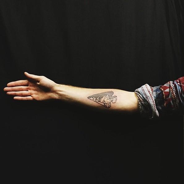 Perfect Arrowhead Tattoo On Forearm