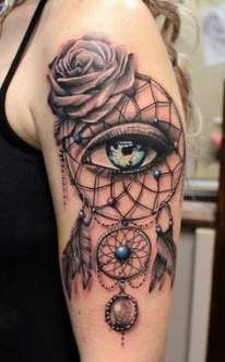 Rose And Dreamcatcher Tattoo (10)