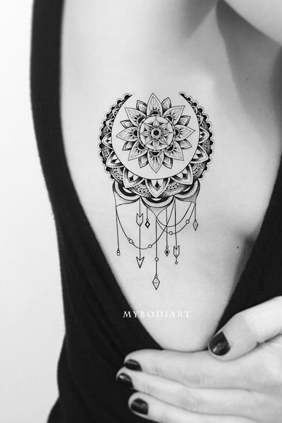 Rose And Dreamcatcher Tattoo (2)