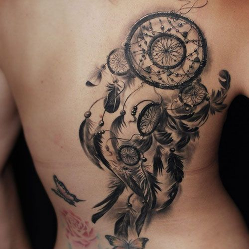 Rose And Dreamcatcher Tattoo (4)