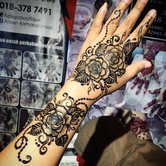 Rose Henna Designs