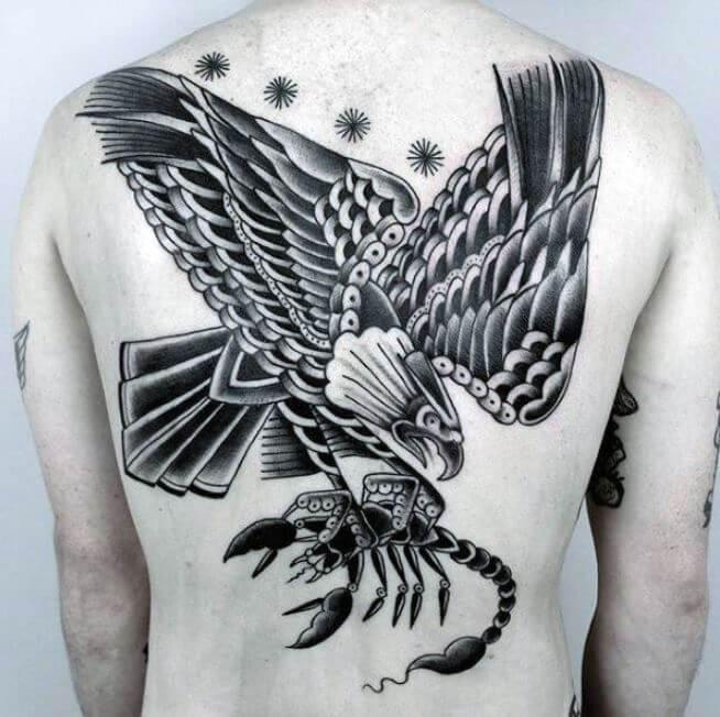 Scorpion Eagle Tattoo