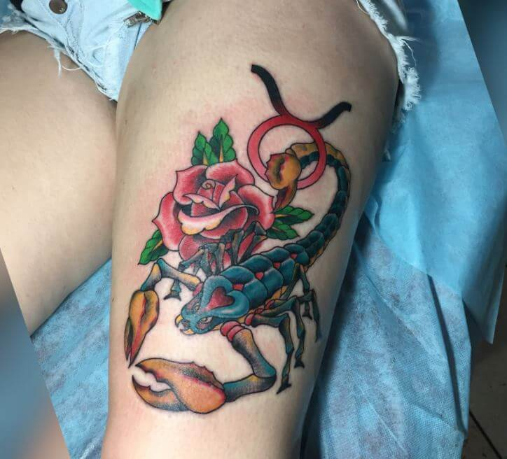 Scorpion Rose Tattoos