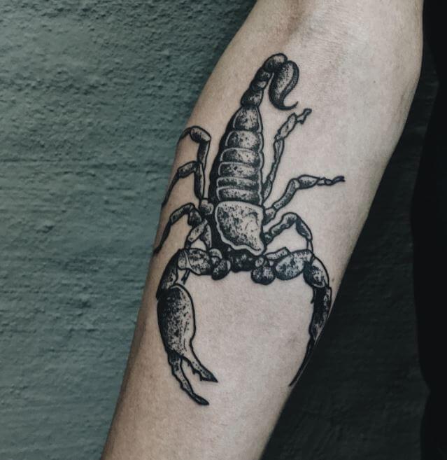 Scorpion Tattoo Lower Arm