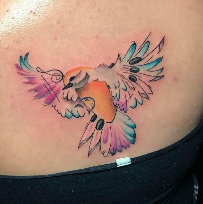 Shoulder Back Tattoos For Girls