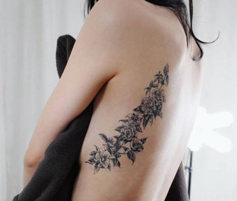 Side Back Tattoos For Girls
