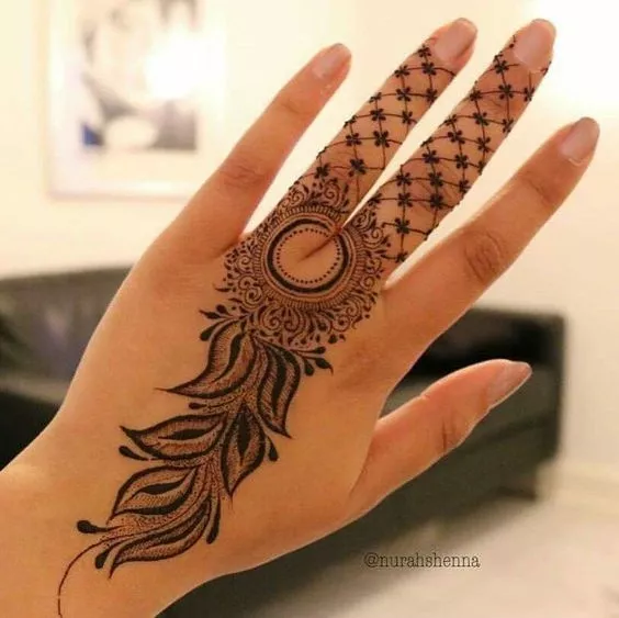 Simple Mehandi Designs (2)
