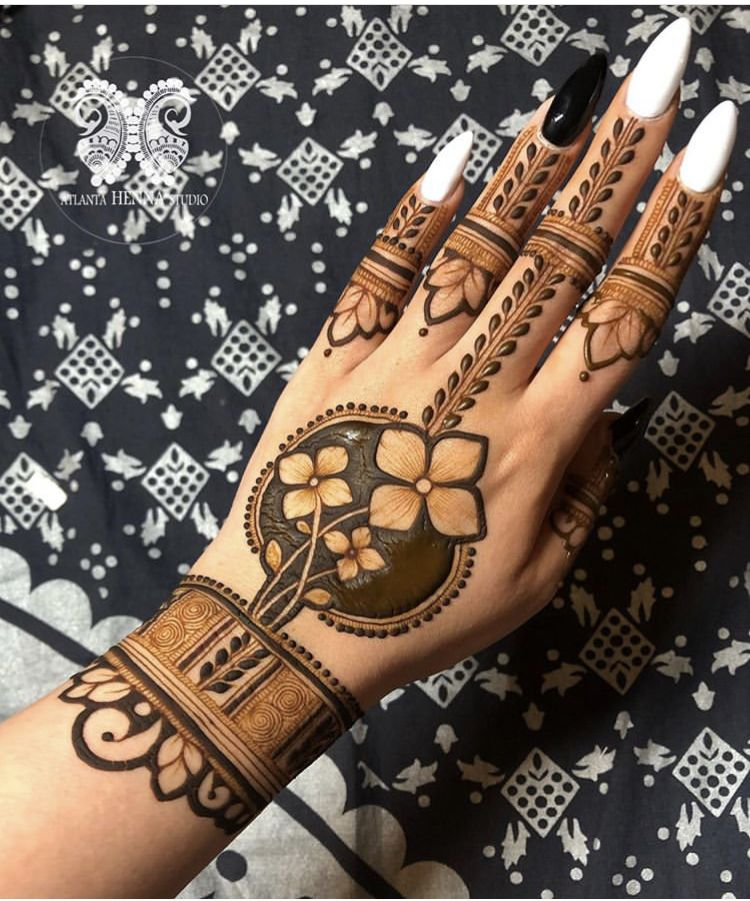 Simple Mehndi Design For Beginners (10)