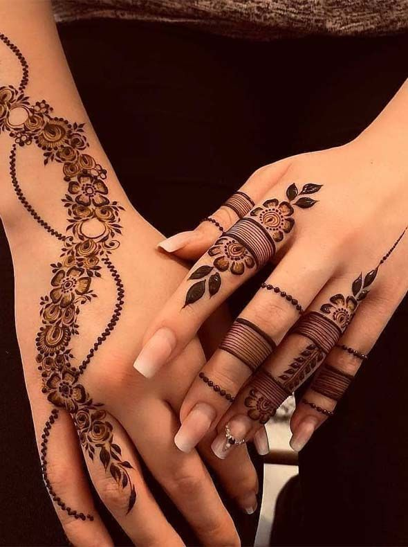 Simple Mehndi Design For Beginners (2)