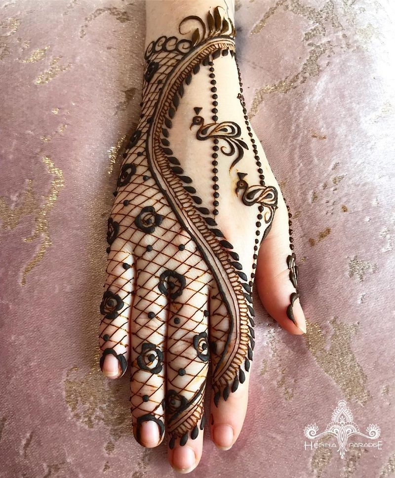 Simple Mehndi Design For Beginners (3)