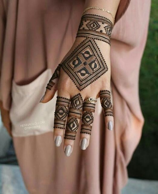 Simple Mehndi Design For Beginners (4)