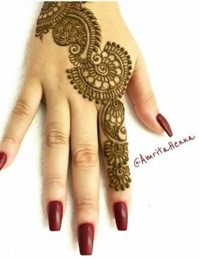 Simple Mehndi Design For Beginners (6)