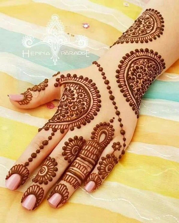 Simple Mehndi Designs For Front Hands (1)