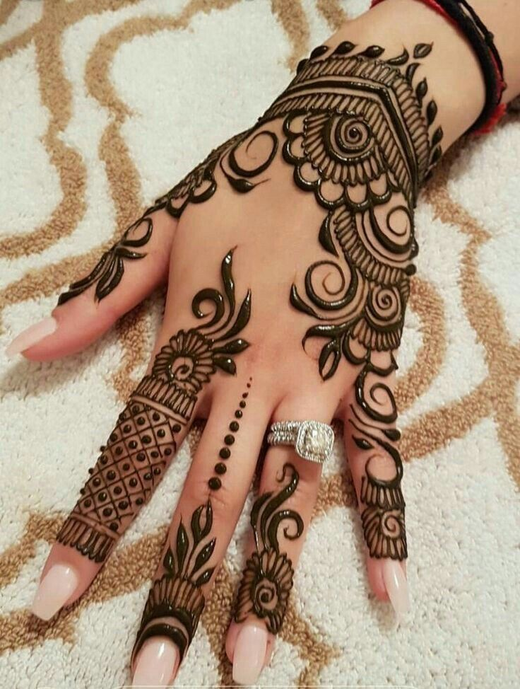 Simple Mehndi Designs For Front Hands (2)