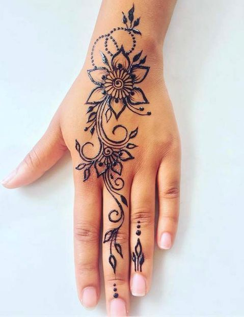 Simple Mehndi Designs For Front Hands (7)