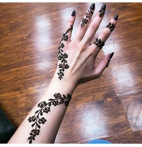 Simple Mehndi Designs For Hands (10)