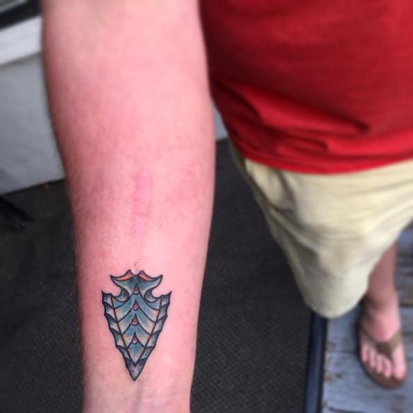 Small Arrowhead Tattoos On Wrist