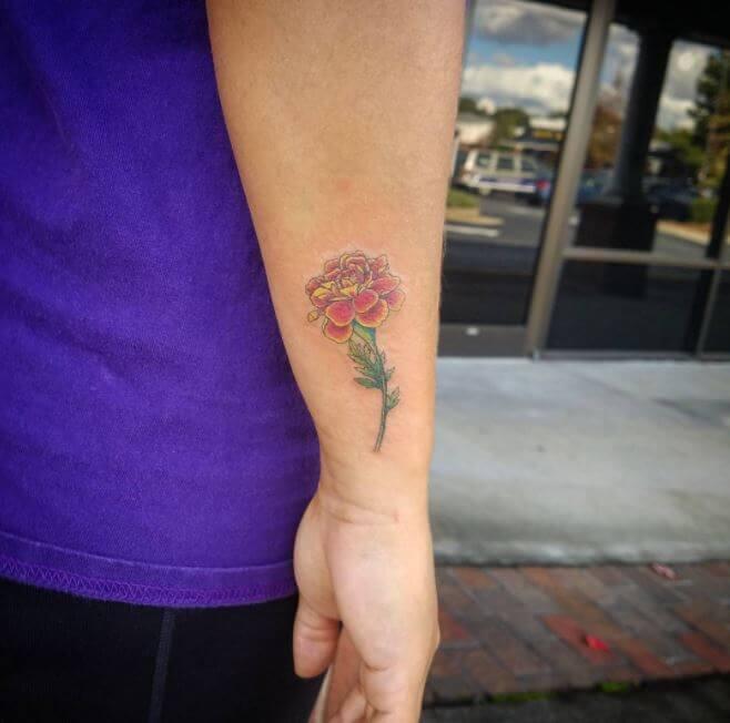 Small Flower Tattoos For Men