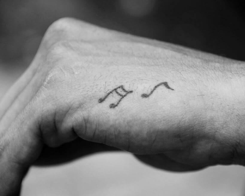 Small Music Tattoos For Men