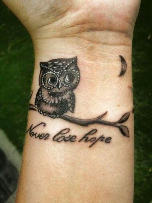 Small Owl Tattoos For Men
