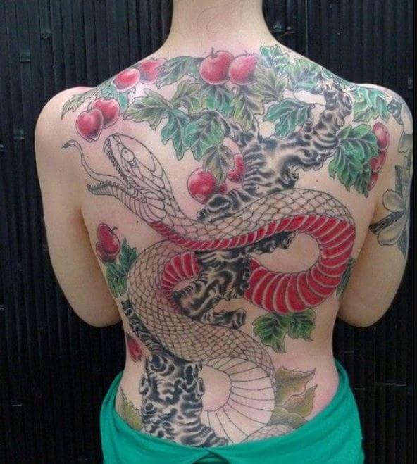 Snake Back Tattoos For Girls