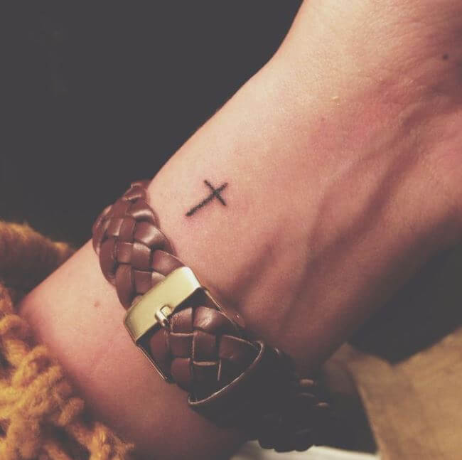 Tiny Cross Tattoos