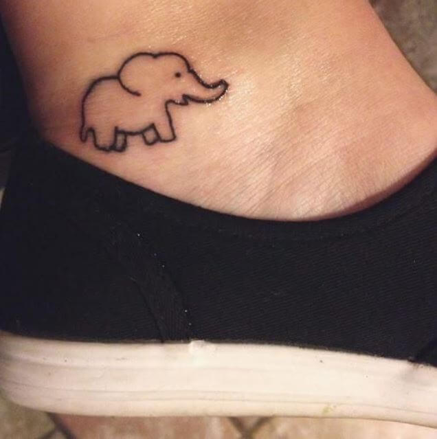 Tiny Elephant Tattoos