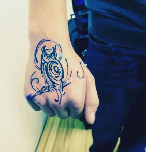 Tribal Birds Tattoos On Hand