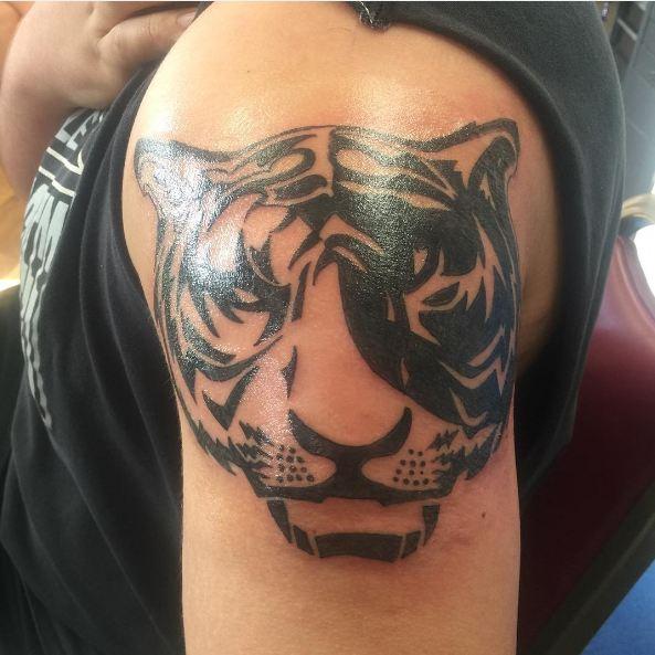 Tribal Tiger Face Tattoos