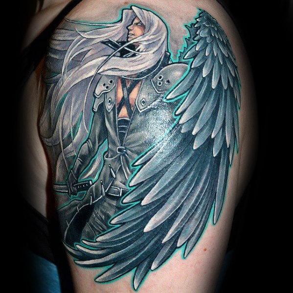 Upper Arm Guys Final Fantasy Tattoo Inspiration